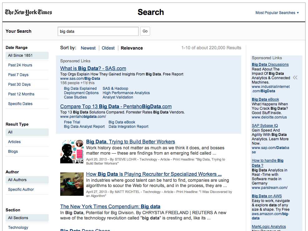 NY Times Search